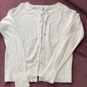 Lightweight button cardigan for girls
